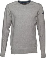 Duck and Cover Mens Alloy Jumper Light Grey Marl