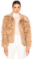 3.1 Phillip Lim Double Collar Faux Fur Bomber Jacket