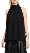 Vince Camuto Shirred Neck Halter Blouse