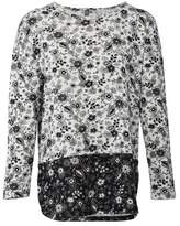 Dorothy Perkins Womens Izabel London Grey Floral Print Top, Grey