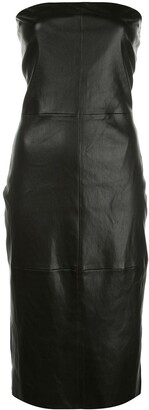 Rosetta Getty Leather Fitted Dress