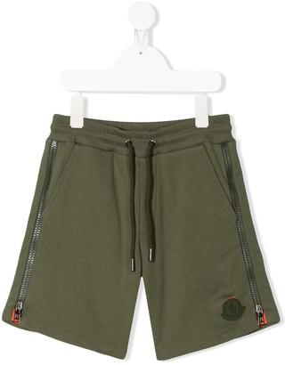 Moncler Enfant Zipped Track Shorts