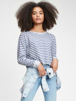 Gap Teen Cropped Waffle-Knit Shirt