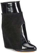 Givenchy Leather & Suede-Covered Wedge Ankle Boots