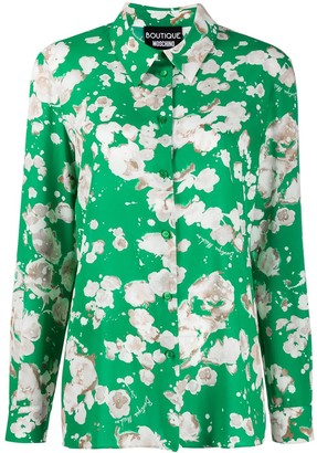 Boutique Moschino Floral Long-Sleeve Shirt