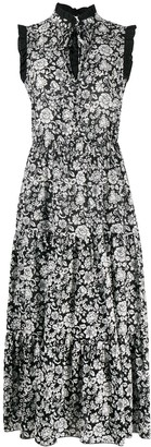 See by Chloe Floral-Print Tiered Cotton Dress