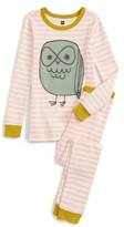 Tea Collection Girl's Tawny Owl Fitted Two-Piece Pajamas