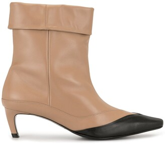 SALONDEJU Pointed Heel Boots