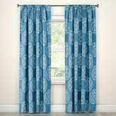 Threshold Tile Medallion Curtain Panel Teal