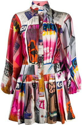 Zimmermann Collage-Print Dress
