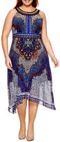 Studio 1 Sleeveless Embellished Paisley Fit & Flare Dress-Plus