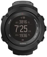 Suunto Men's 50mm Black Silicone Band Plastic Case Quartz Grey Dial Watch SS021964000