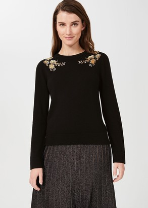 Hobbs Louise Embroidered Jumper