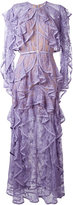 Elie Saab ruffled lace dress - women - Silk/Nylon/Polyamide/Polyester - 38