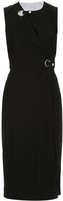 Rosetta Getty Grommet wrap midi dress