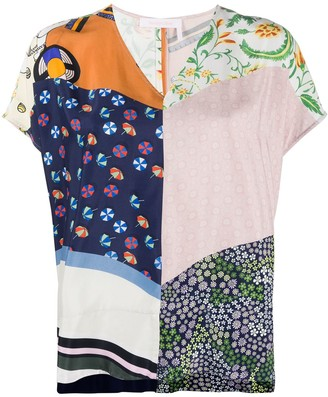 See by Chloe Summer Patchwork blouse