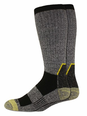 Dickies Men's Big & Tall Kevlar Reinforced Steel Toe Crew Socks