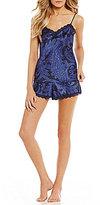 Lauren Ralph Lauren Paisley Satin & Lace Pajamas