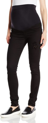 James Jeans Women's Twiggy External Maternity Band Legging Jean in Flat