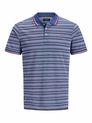 Shirt Jack /& Jones Premium 12135106 Man Korean Slim Fit Light Blue Grey Stripes