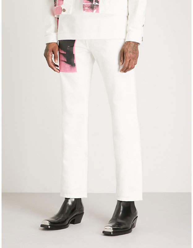 Calvin Klein Andy Warhol print relaxed-fit straight jeans