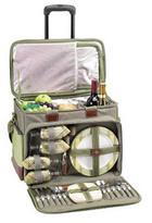 "18"" Wheeled Picnic Cooler for 4, Olive"