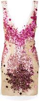 Amen sequin embroidery bodycon dress