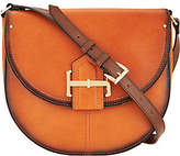 Tignanello As Is Vintage Leather Loredo Saddle Crossbody