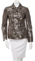 Tory Burch Leather Metallic Jacket