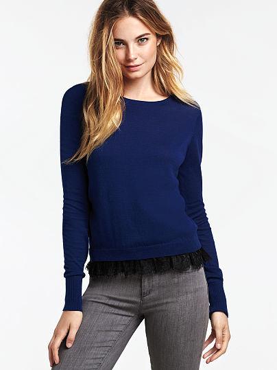Victoria's Secret Lace-trim Pullover