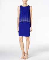 Jessica Howard Petite Popover Sequined Sheath Dress