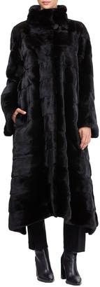Pajaro Horizontal Mink Short Coat