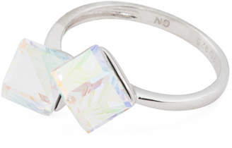 Sterling Silver Swarovski Crystal Cube Ring