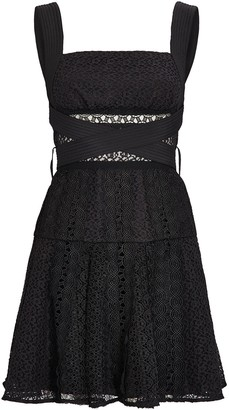 Self-Portrait Lace Sleeveless Mini Dress