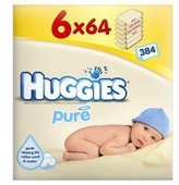 Huggies Pure Wipes 64s - 6 packs of 64 wipes by