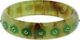 Mark Davis Green Bakelite Bangle