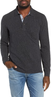 Faherty Brand Luxe Heather Long Sleeve Polo