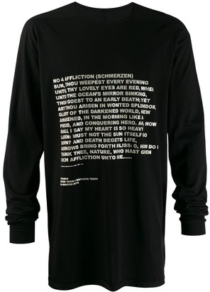 Rick Owens Level long-sleeved T-shirt