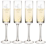 Cathy's Concepts Oh What Fun Set Of 4 Champagne Flutes