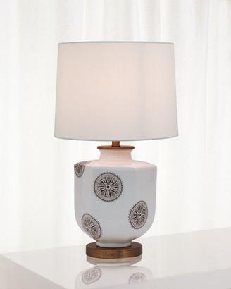 Port 68 Temba Table Lamp, Brown/White
