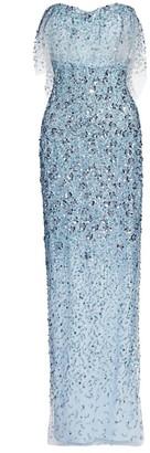 Pamella Roland Embellished Strapless Gown