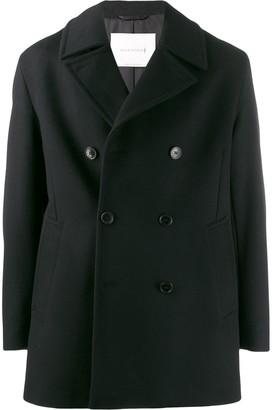 MACKINTOSH BROOM Black Wool & Cashmere Pea Coat GM-1017F