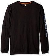 Timberland Men's Base Plate Blended Logo Long-Sleeve T-Shirt