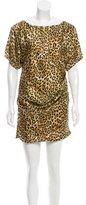 Just Cavalli Leopard Printed Silk Dress