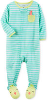 Carter's 1-Pc. Bird-Pocket Striped Footed Pajamas, Baby Girls (0-24 months)