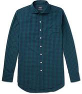 Drakes Drake's - Slim-fit Checked Cotton-poplin Shirt - Green