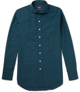 Drakes Drake's - Slim-Fit Checked Cotton-Poplin Shirt