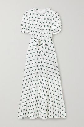 Peony Swimwear Poolside Polka-dot Woven Maxi Dress - Off-white