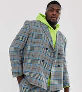 Asos Design ASOS DESIGN Plus boxy suit jacket with colour pop check