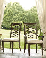 Horchow Two Lenore Cross-Back Armchairs